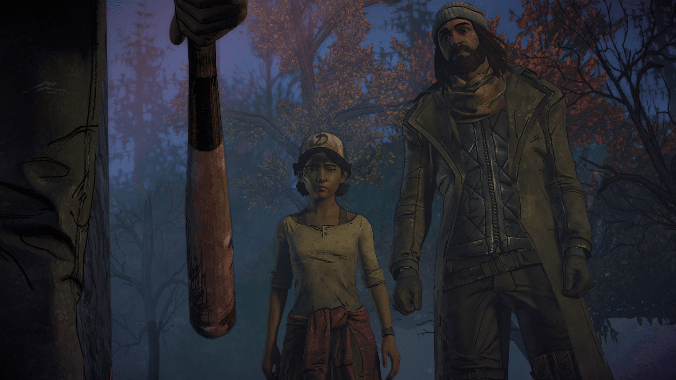The Walking Dead Clementine and Jesus