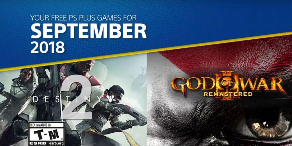 PS Plus na wrzesień 2018 z God of War 3 i Destiny 2!