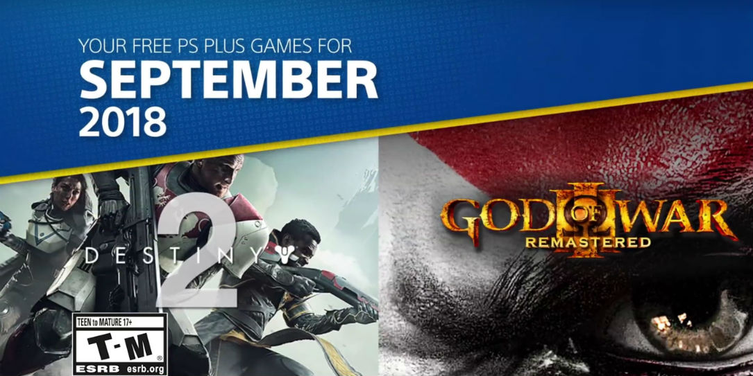 PS Plus na wrzesień 2018 z God of War 3 i Destiny 2!