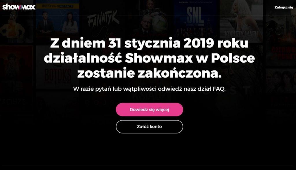 koniec showmax