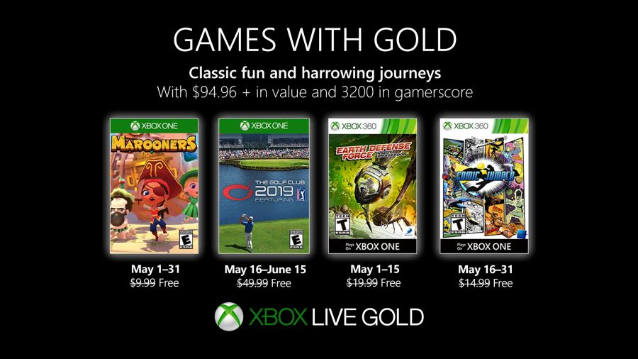 games with gold na maj 2019