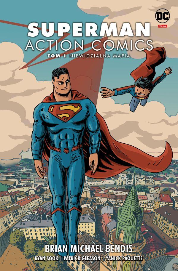 okladki dc superbohaterowie na ulicach polskich miast