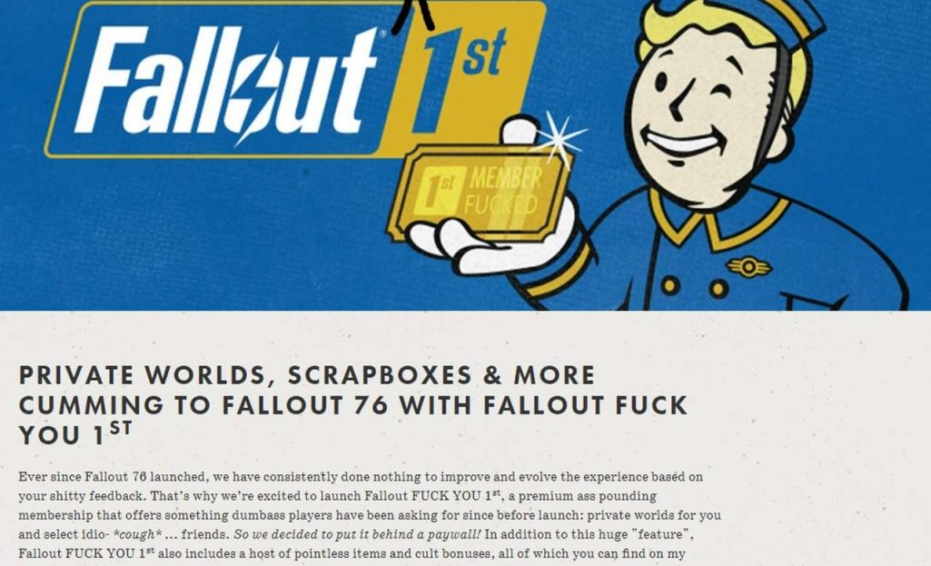fallout fuck you 1st