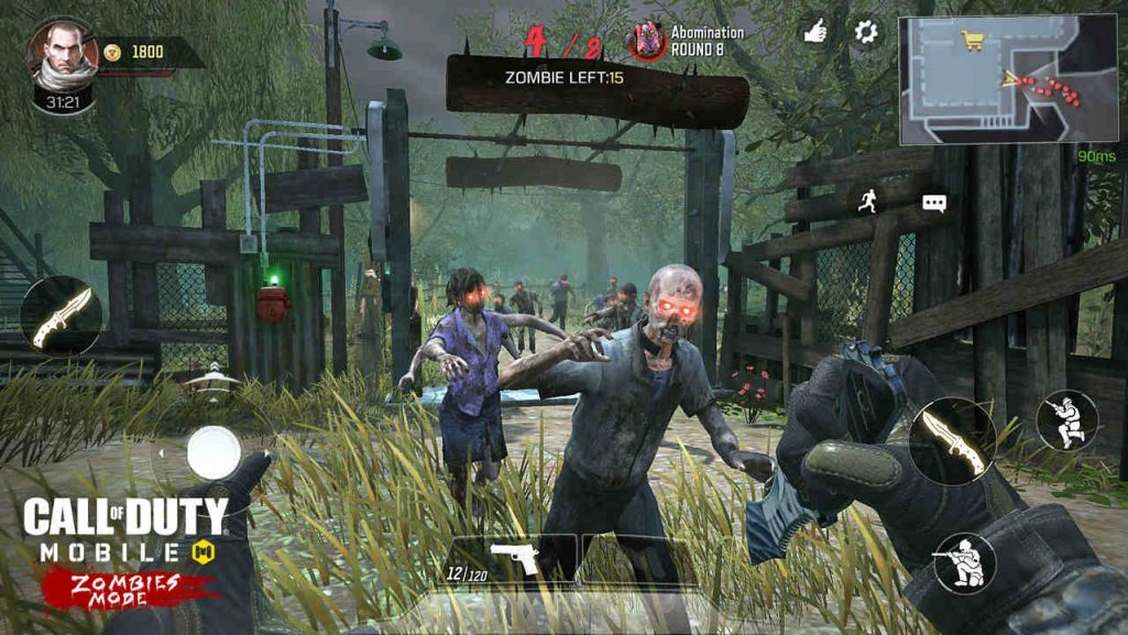 call of duty mobile tryb zombie