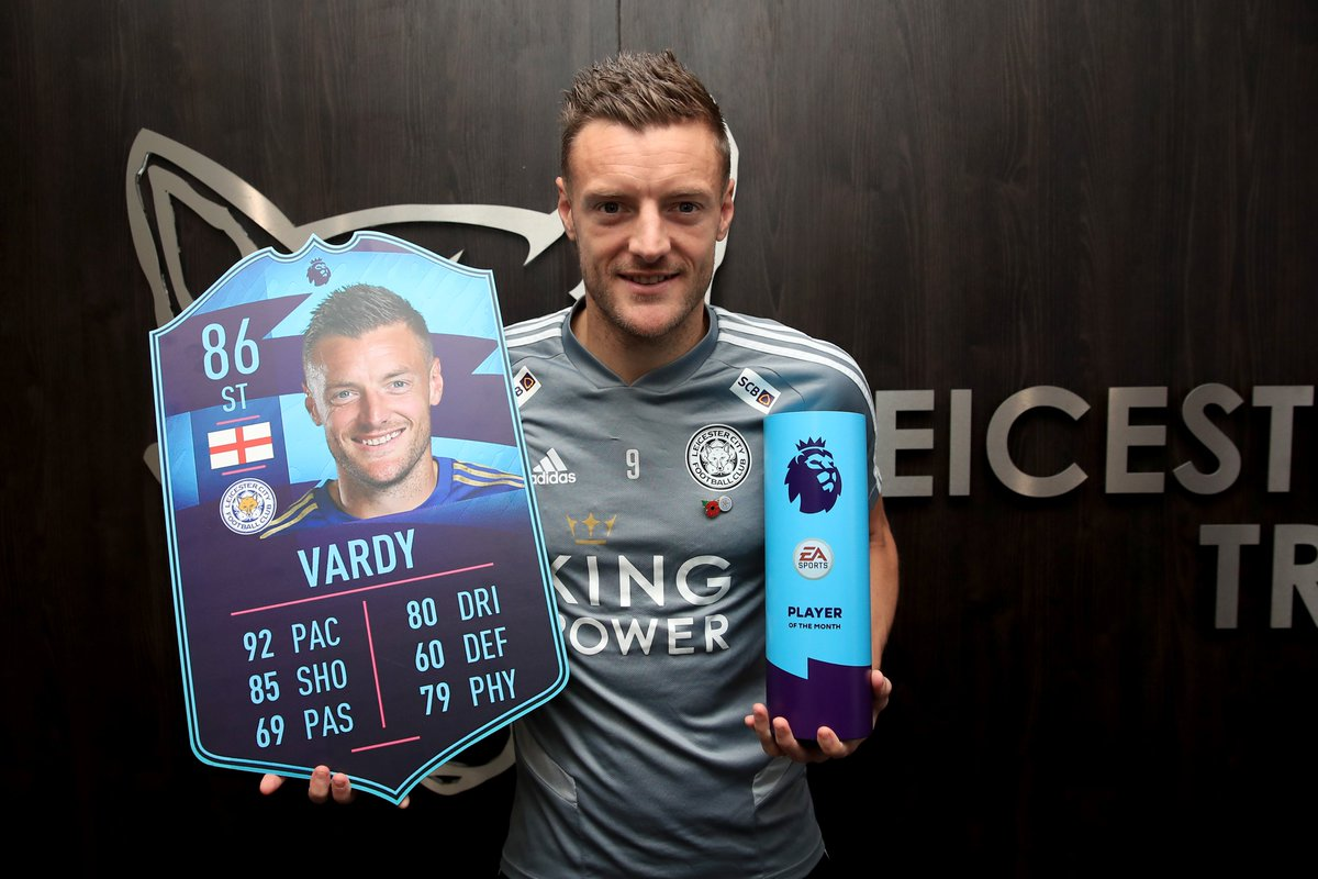 fifa 20 fut - karta jamie vardy player of the month
