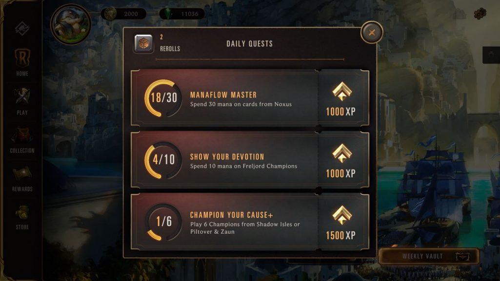 system nagrod w legends of runeterra