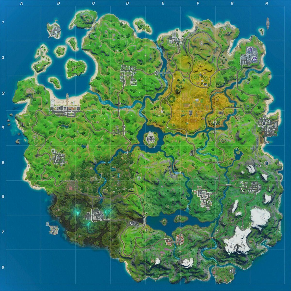 fortnite 2. sezon 2. rozdzial mapa