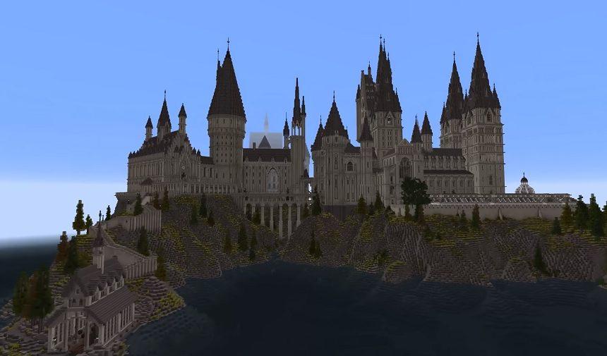 hogwart z harry'ego pottera w minecraft