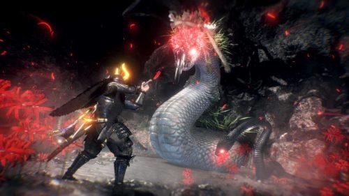 Yatsu-no-Kami to boss nioh 2 z misji the viper's sanctum