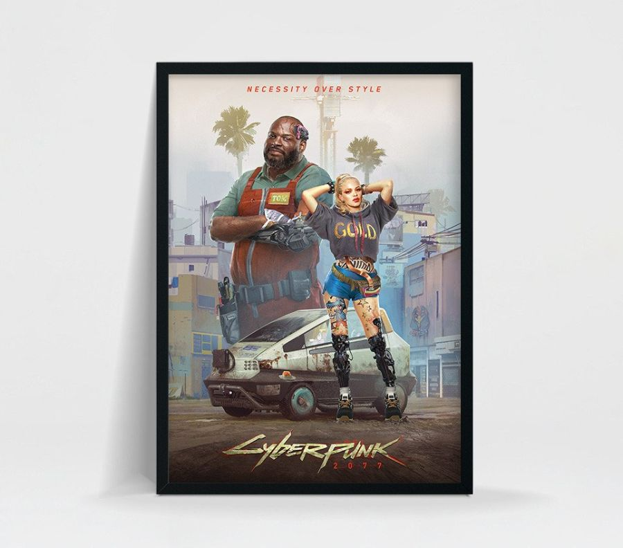 cyberpunk 2077 plakat