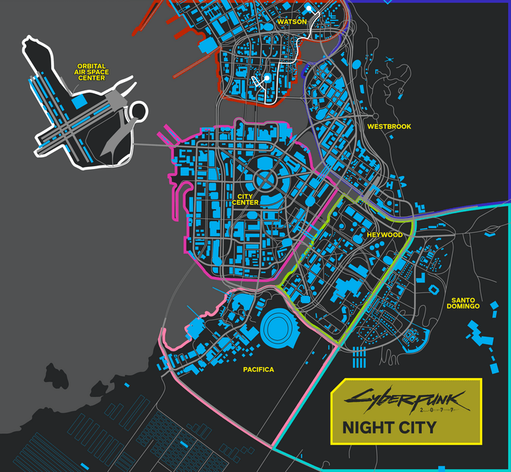 mapa cyberpunk 2077