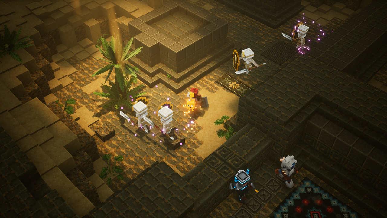 minecrafts dungeons to nie tylko lochy, ale też pustynie