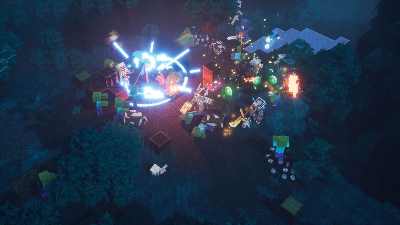 kolorowy świat minecraft dungeons