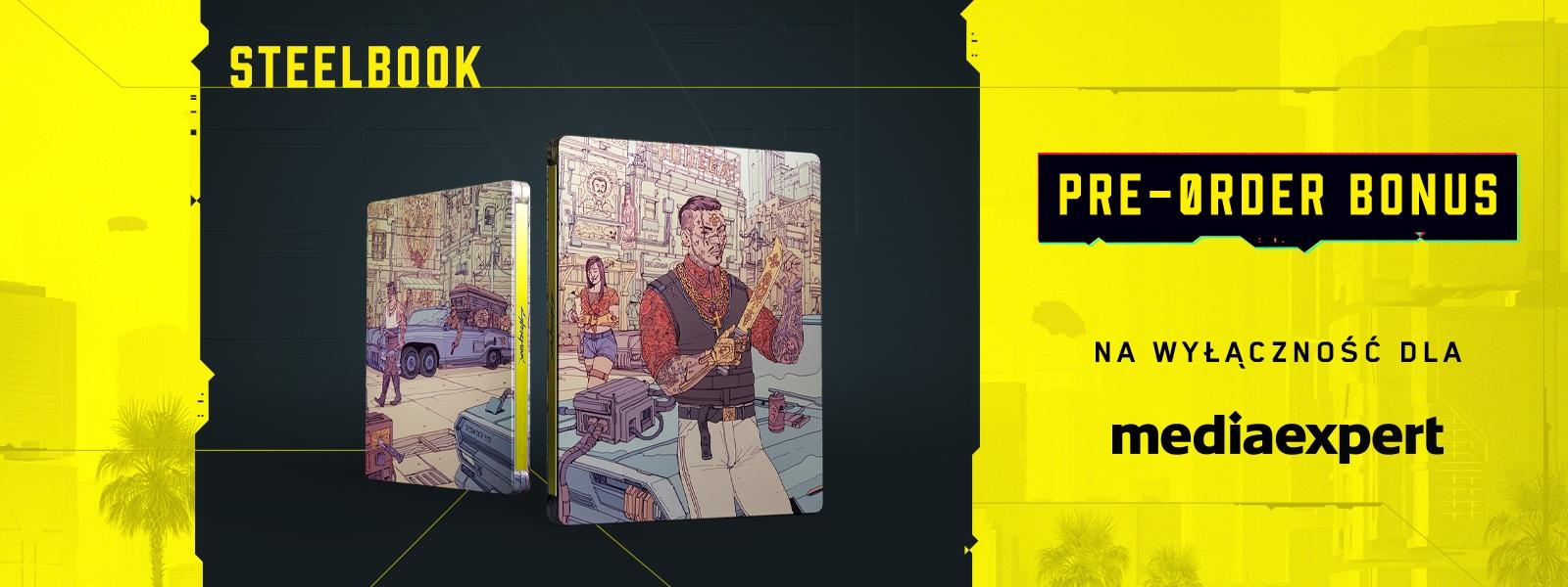 steelbook cyberpunk 2077 dodawany do zamówień na mediaexpert