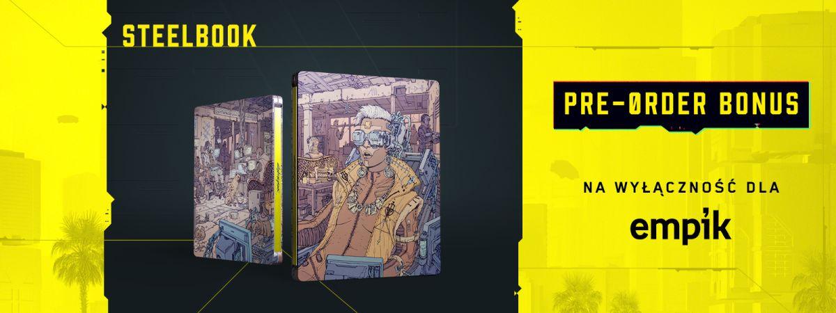 steelbook cyberpunk 2077 dodawany do zamówień w empiku