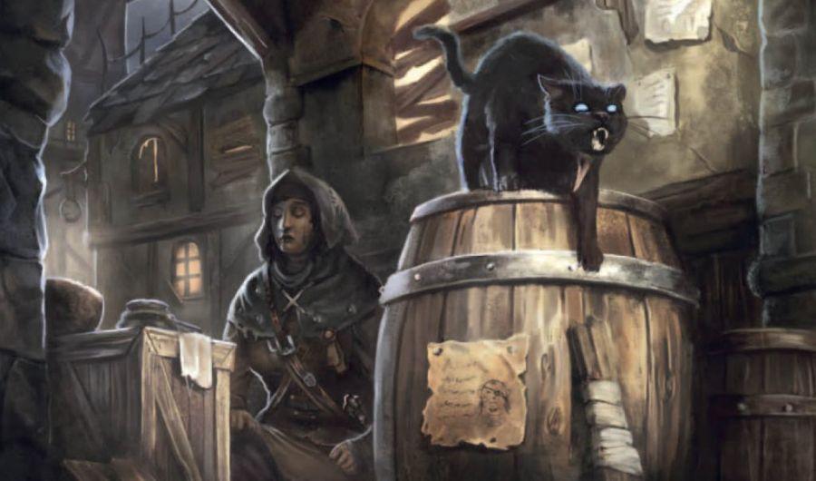 czarny kot i czarownica w warhammer rpg