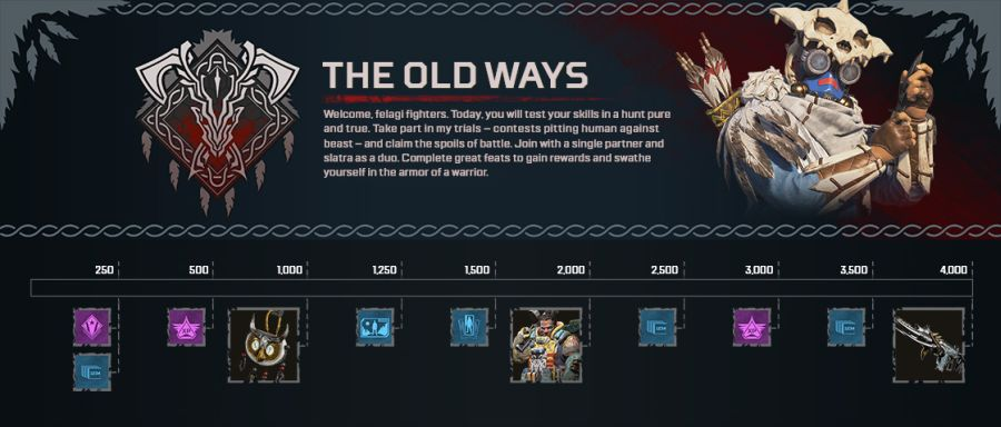 apex legends - tor nagród wydarzenia the old ways