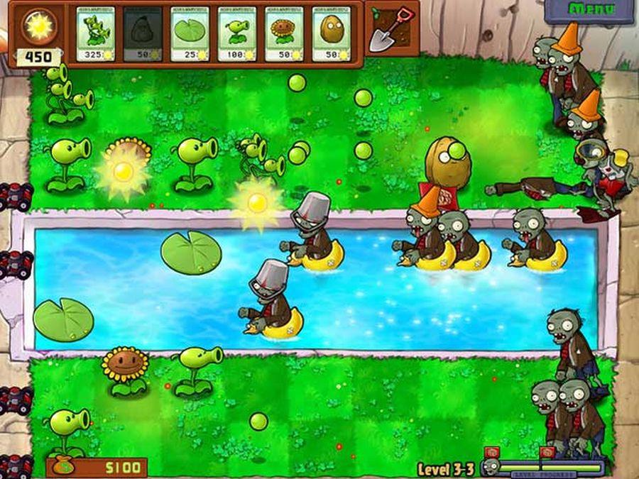 gry dla rodziców i dziadków - plants vs zombies
