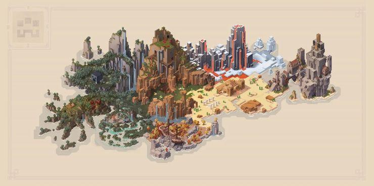 minecraft dungeons mapa a