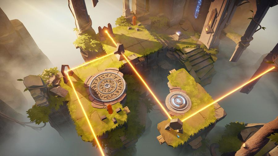 gameplay Archaica: The Path of Light jest naprawdę wyczerpujący intelektualnie