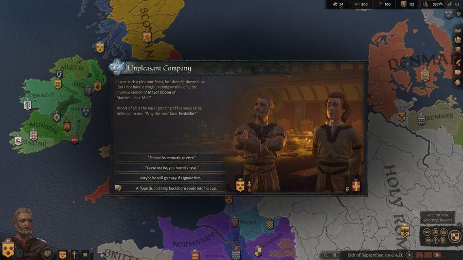 gameplay Crusader Kings 3 będzie znacznie bardziej bogaty niż w dwójce