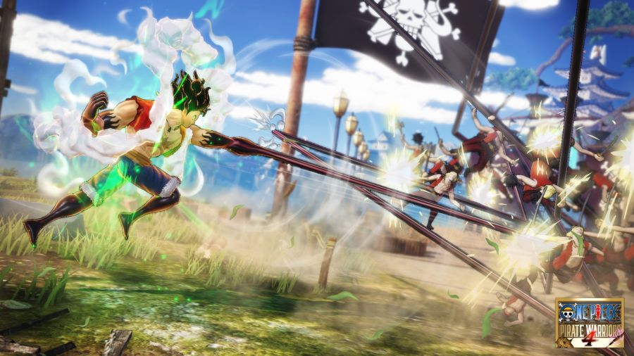 grafika w One Piece: Pirate Warriors 4 jest bardzo zgrzebna