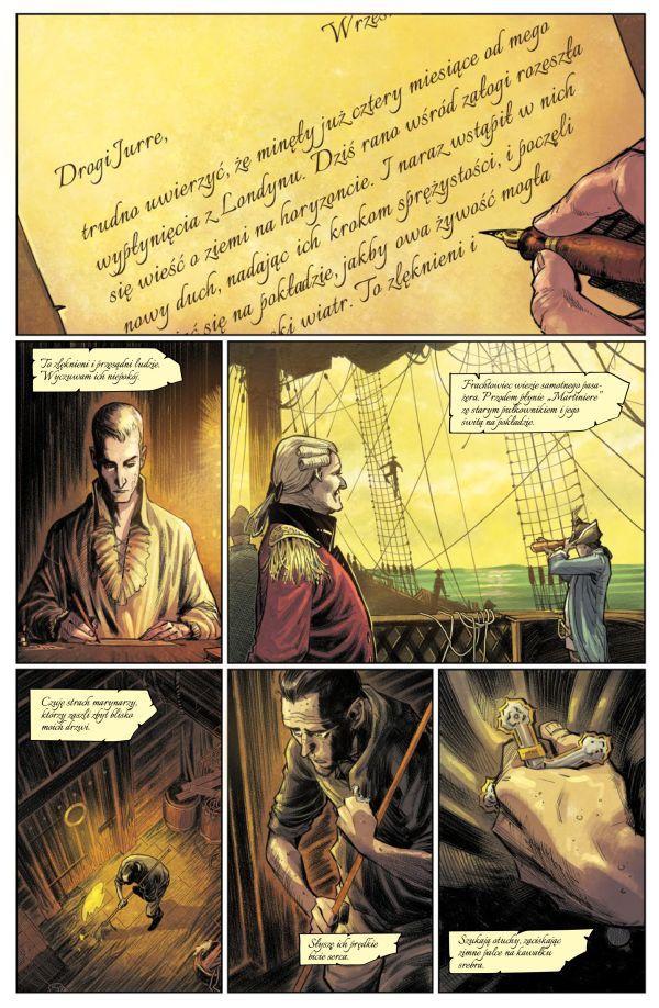 Dziki Ląd - plansza komiksu, którego premiera zaplanowana jest na maj 2020