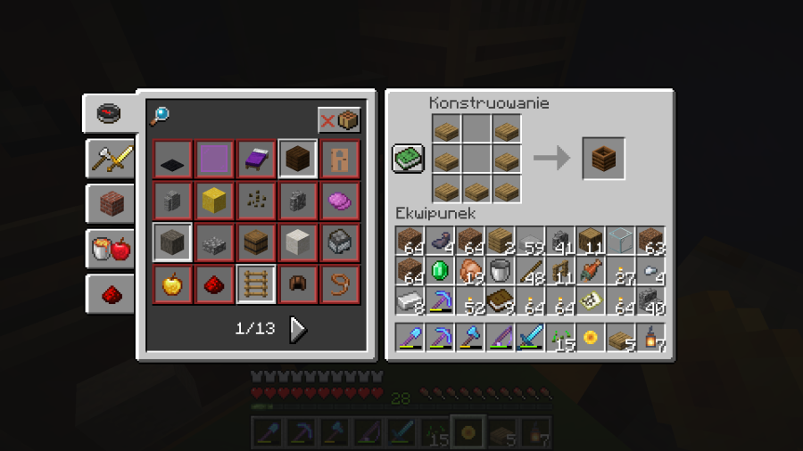 crafting kompostownika w Minecraft - receptura