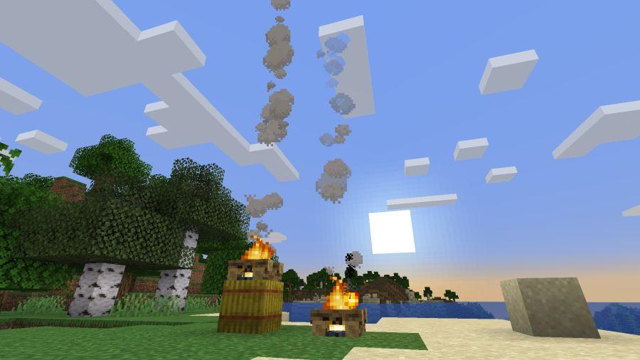 ognisko nad sianem w minecraft