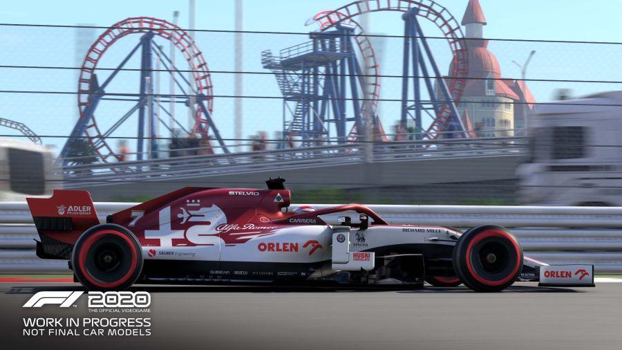 na torze Baku w F1 2020 widzimy Alfa Romeo ORLEN Racing Team