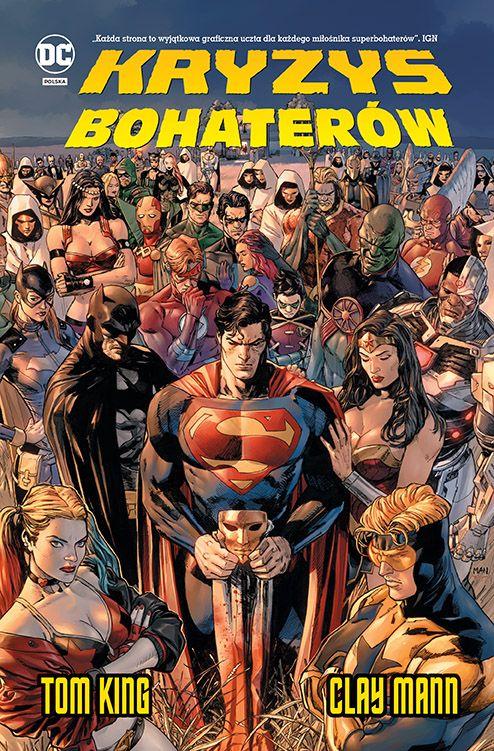 okładka komiksu Kryzys Bohaterów Toma Kinga