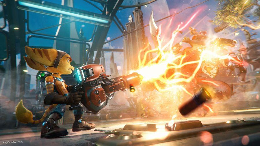 gameplay Ratchet and Clank: Rift Apart będzie niezwykle dynamiczny