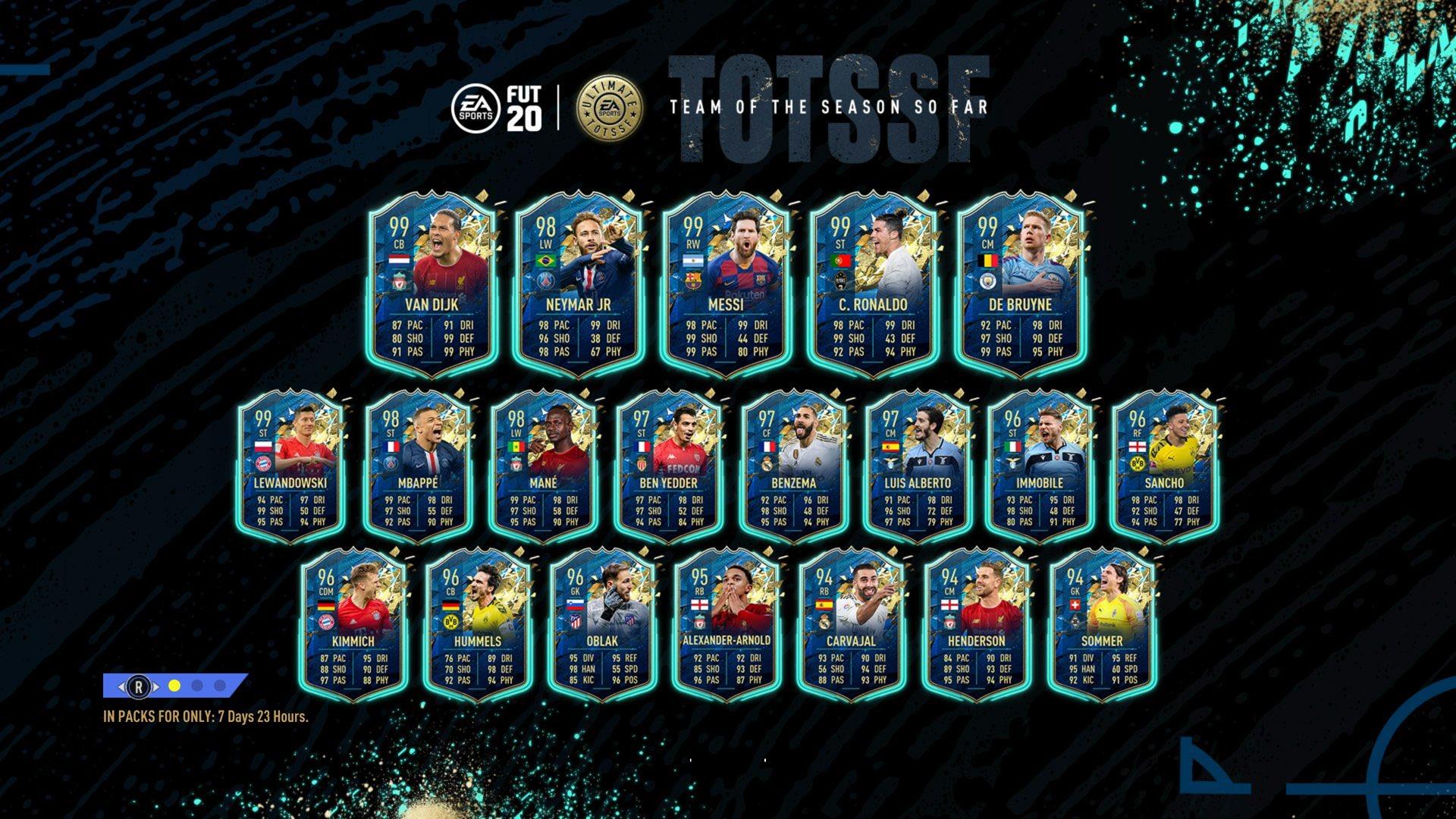 TOTS Ultimate Squad w FIFA 20 FUT