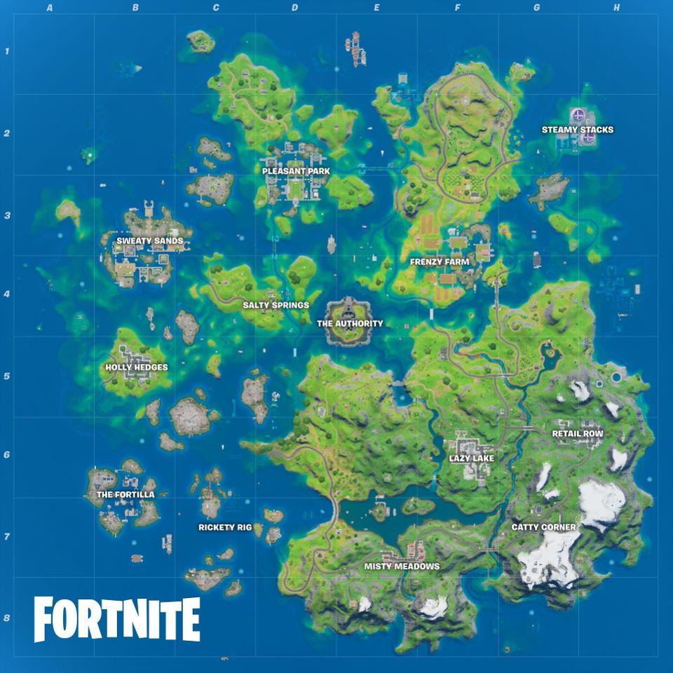 mapa 3. sezonu 2. rozdziału Fortnite
