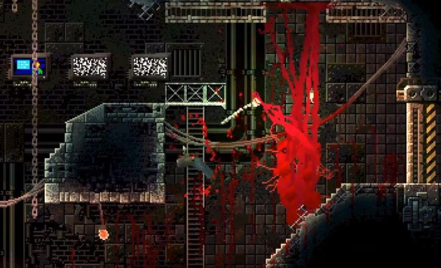 Gameplay Carrion opiera się na kierowaniu potworem.