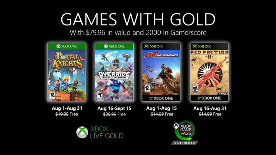 Gry z oferty Games with Gold na sierpień 2020.