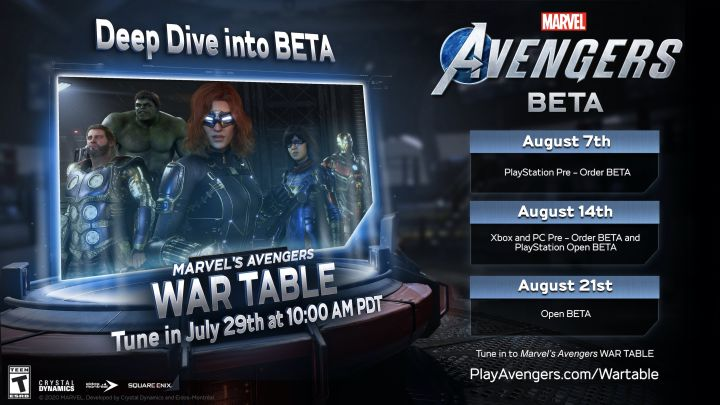 Prezentacja War Table z Marvel's Avengers już w 29 lipca!