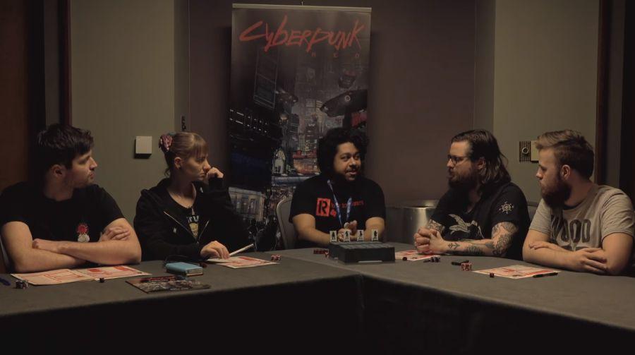 Sesja RPG z Cyberpunk RED.