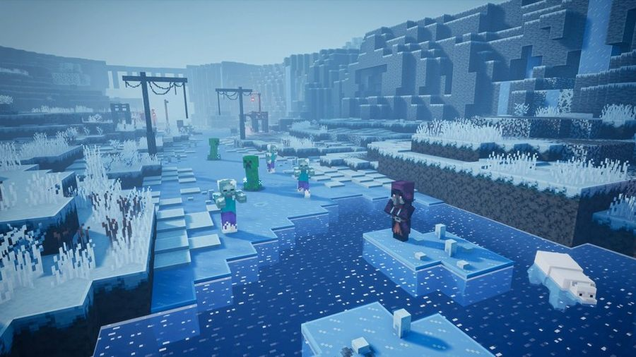 Minecraft Dungeons: Creeping Winter. Premiera DLC we wrześniu!