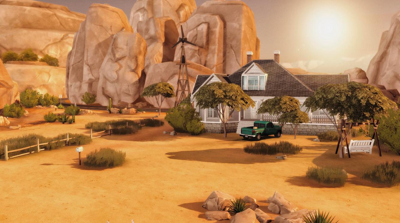 Dom z Teksańskiej masakry piłą mechaniczną w The Sims 4