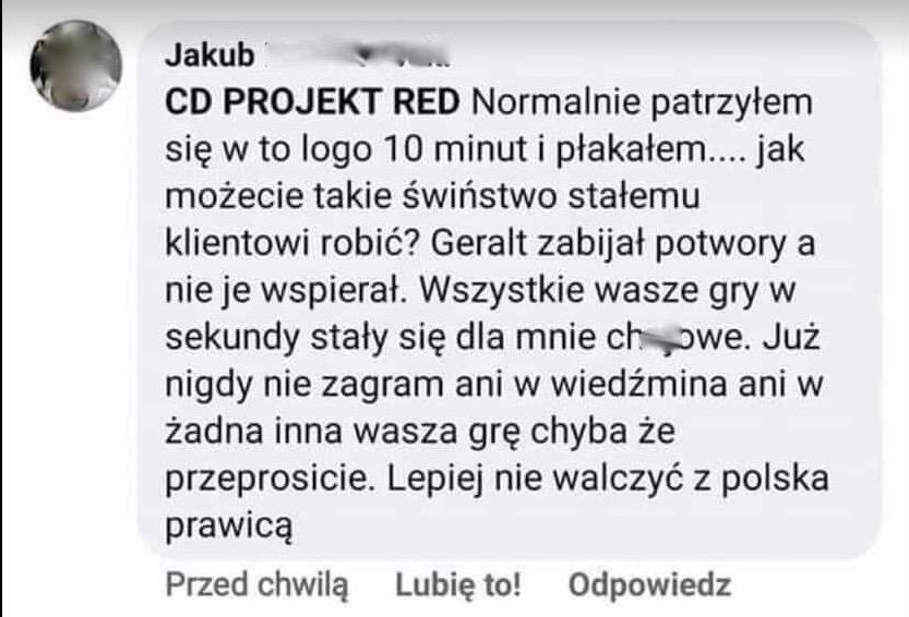 Rocznica WIELKIEJ INBY na fanpejdżu CD Projekt RED